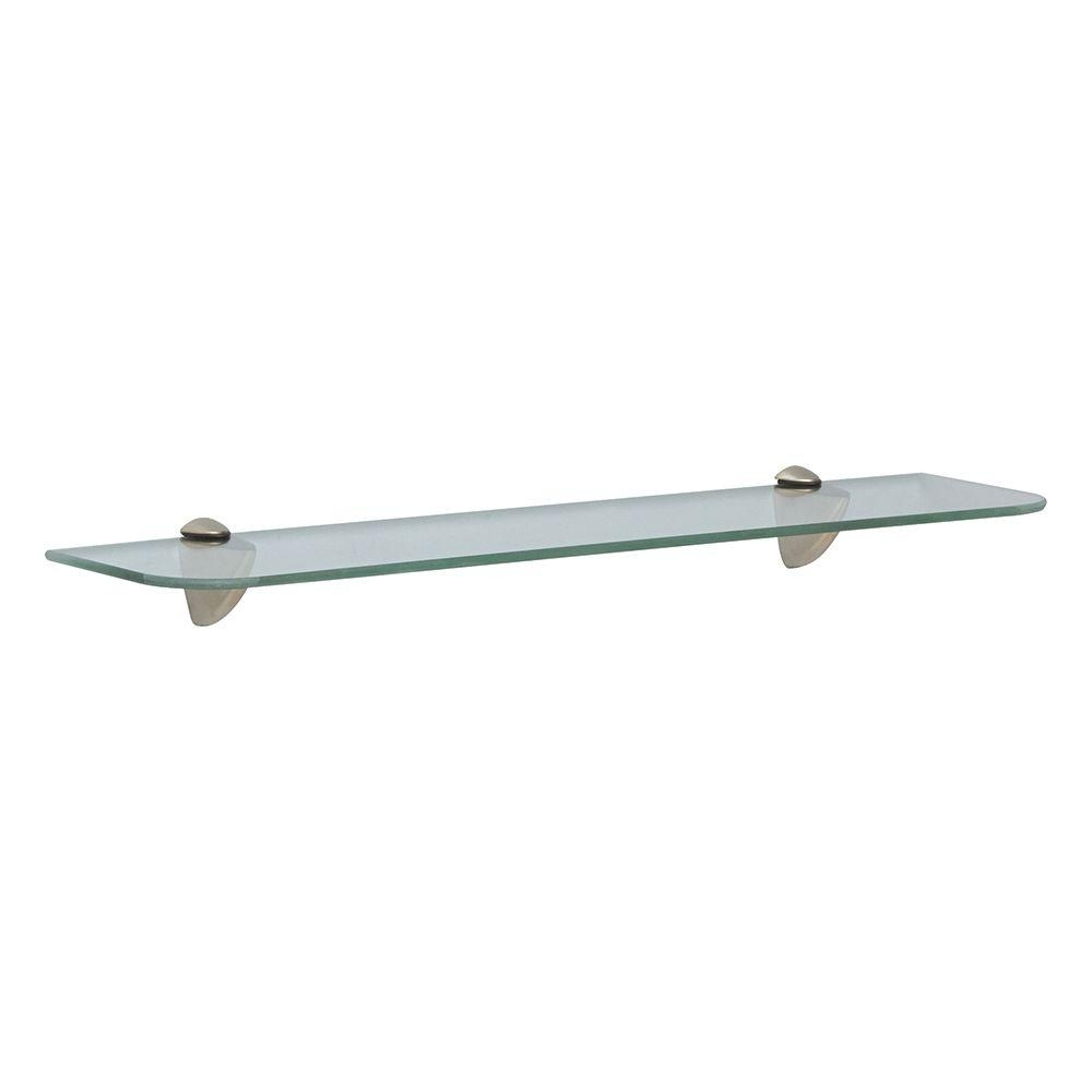 Glass Shelf Kits Shelves Shelf Brackets Storage In Wall Mounted Glass Shelves (Image 3 of 15)