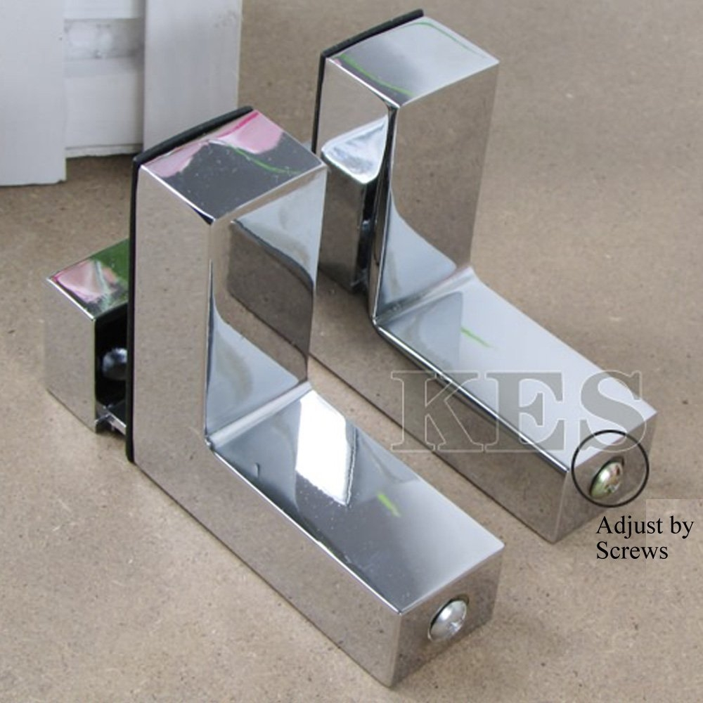 Glass Shelf Supports Plate Clamp Glass Shelf Support Shel Plate In Glass Shelf Fittings (Image 6 of 15)
