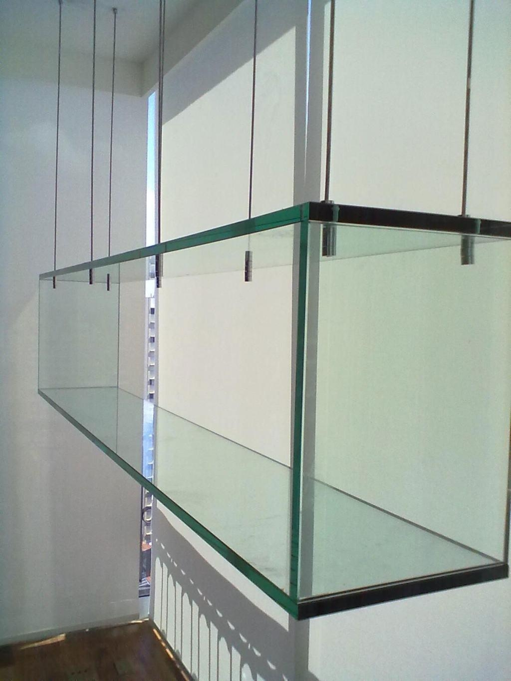 Glass Shelves 60 Cool Designs And Ideas To Decorate Home Decoo With Regard To Cable Suspended Glass Shelves (Image 3 of 15)