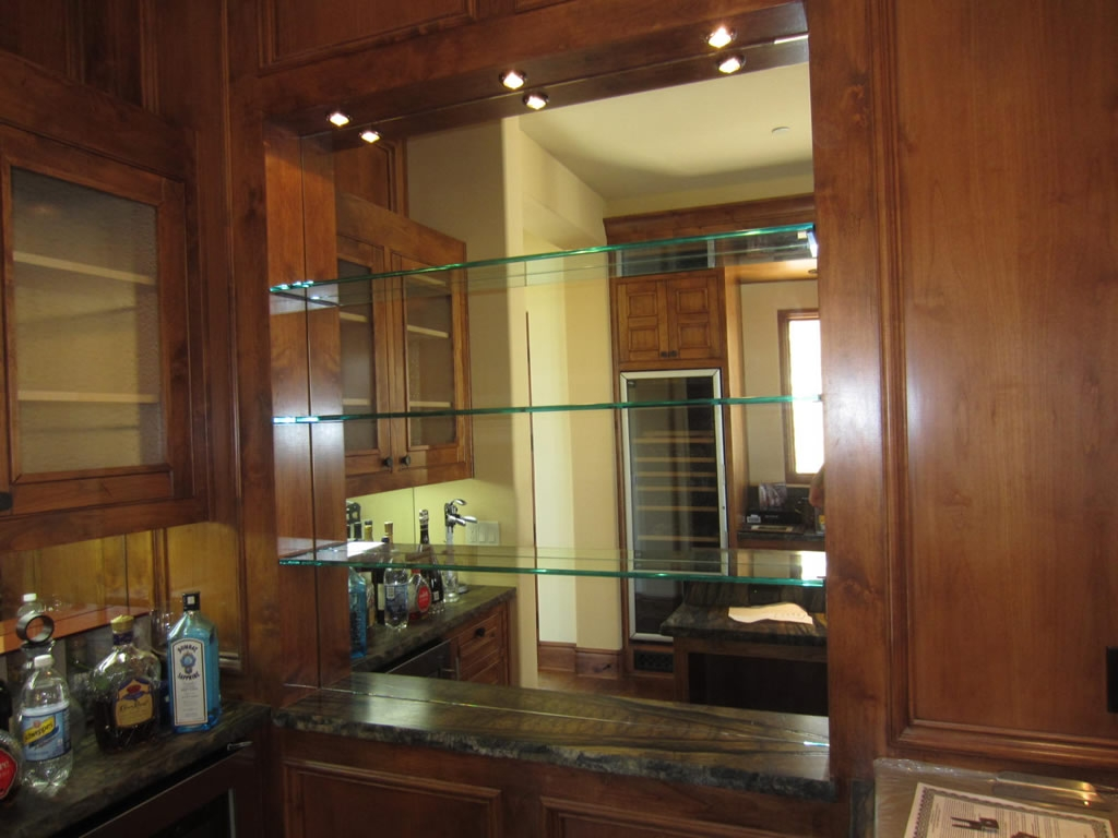 Glass Shelves And Bar Mirror Patriot Glass And Mirror San Diego Ca For Glass Shelves For Bar Area (Image 6 of 15)