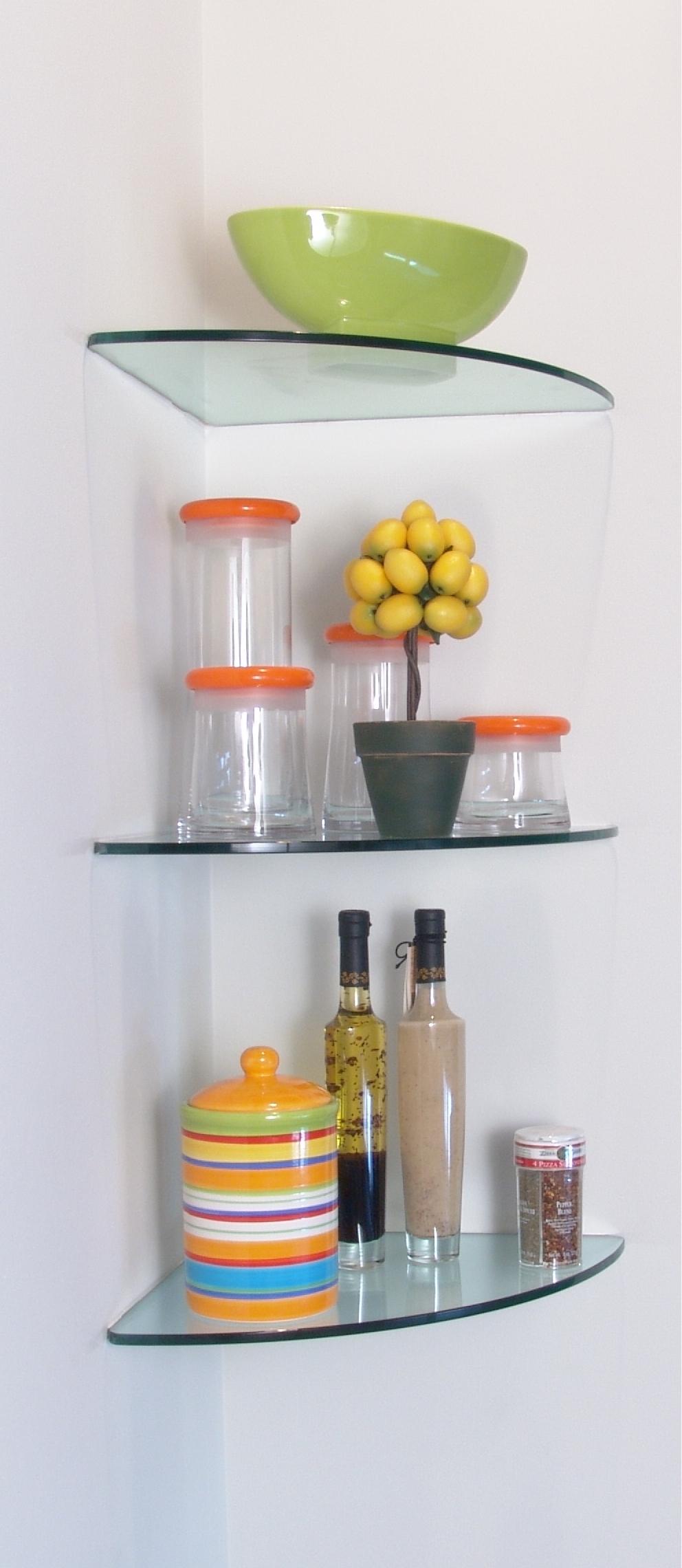 Glass Shelves Glass Shelving Within Floating Corner Glass Shelves (Image 11 of 15)