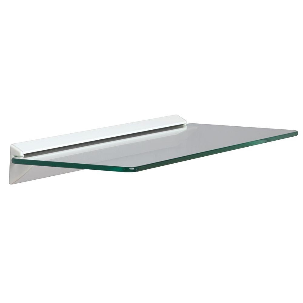 Glass Shelves Shelf Brackets Storage Organization The Intended For Glass Shelving (Image 6 of 15)
