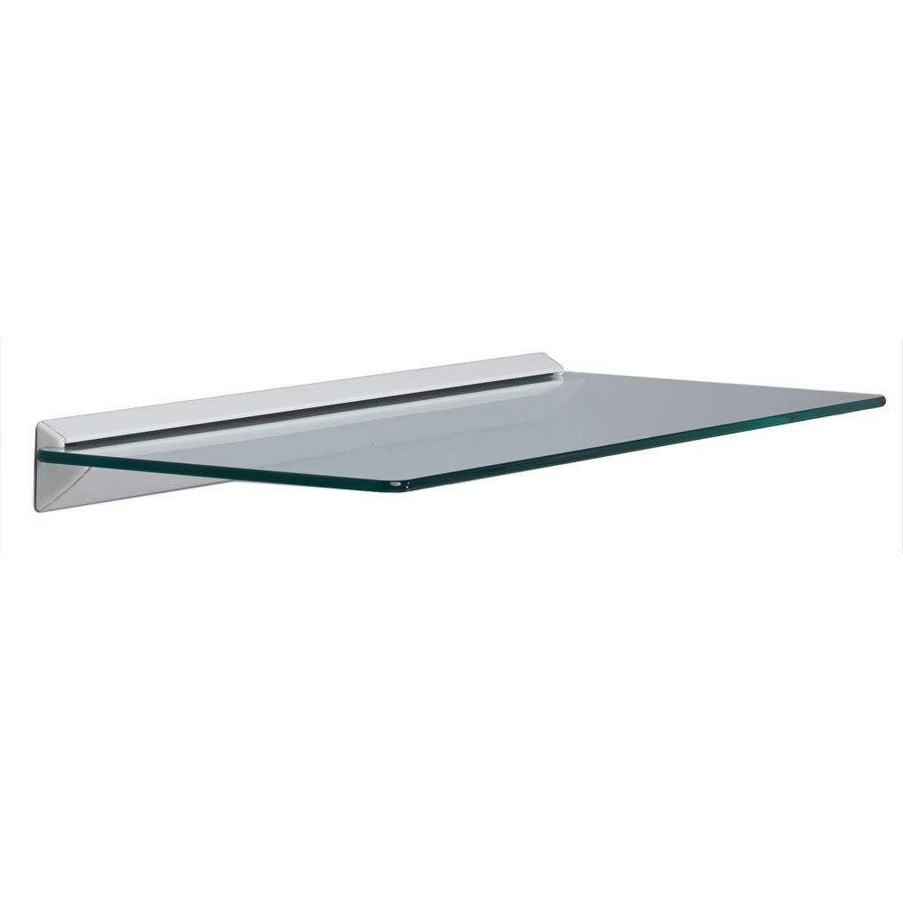 Glass Shelves Shelf Brackets Storage Organization The Intended For Wall Mounted Glass Shelf (Image 6 of 15)