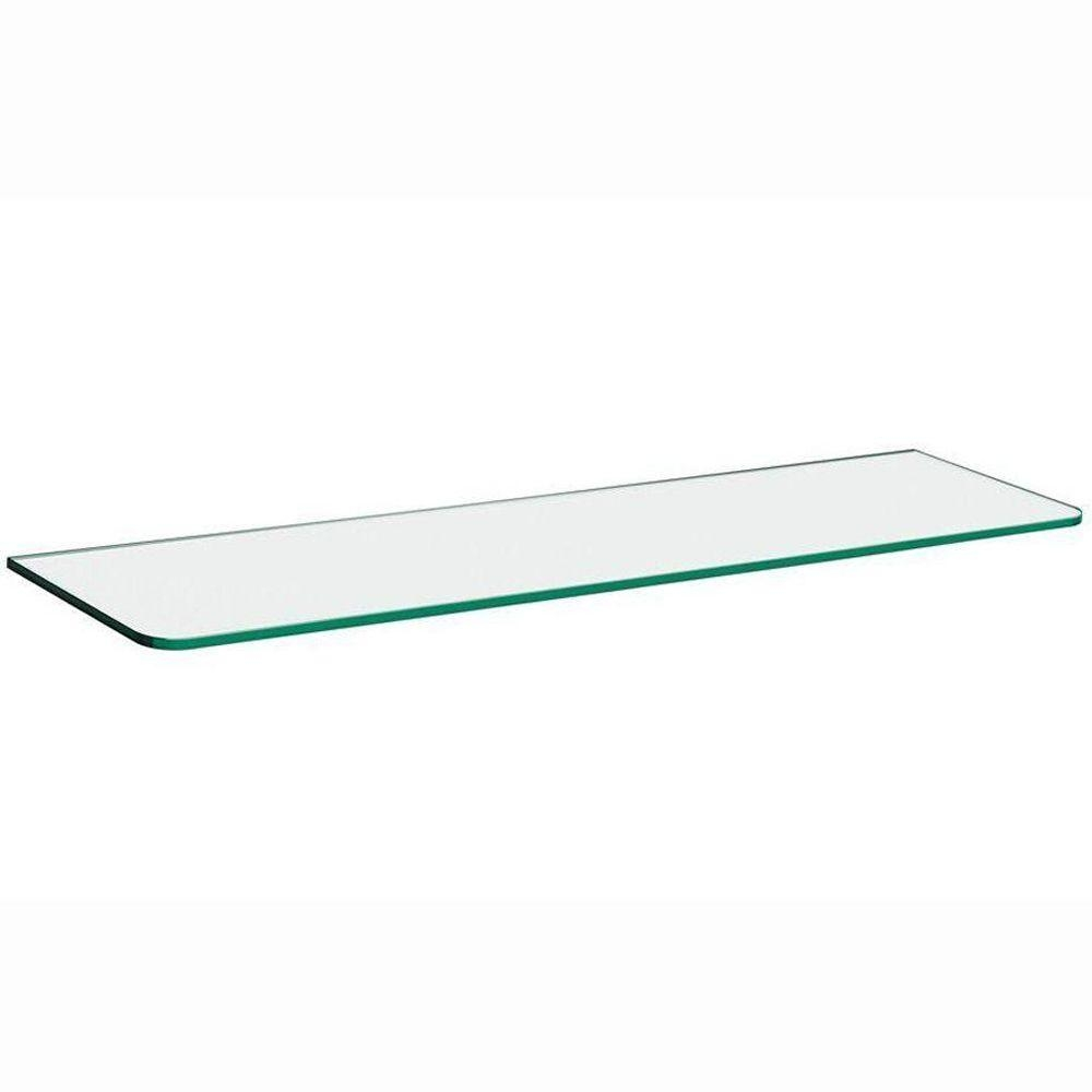 Glass Shelves Shelf Brackets Storage Organization The Pertaining To Suspended Glass Shelf (Image 4 of 15)