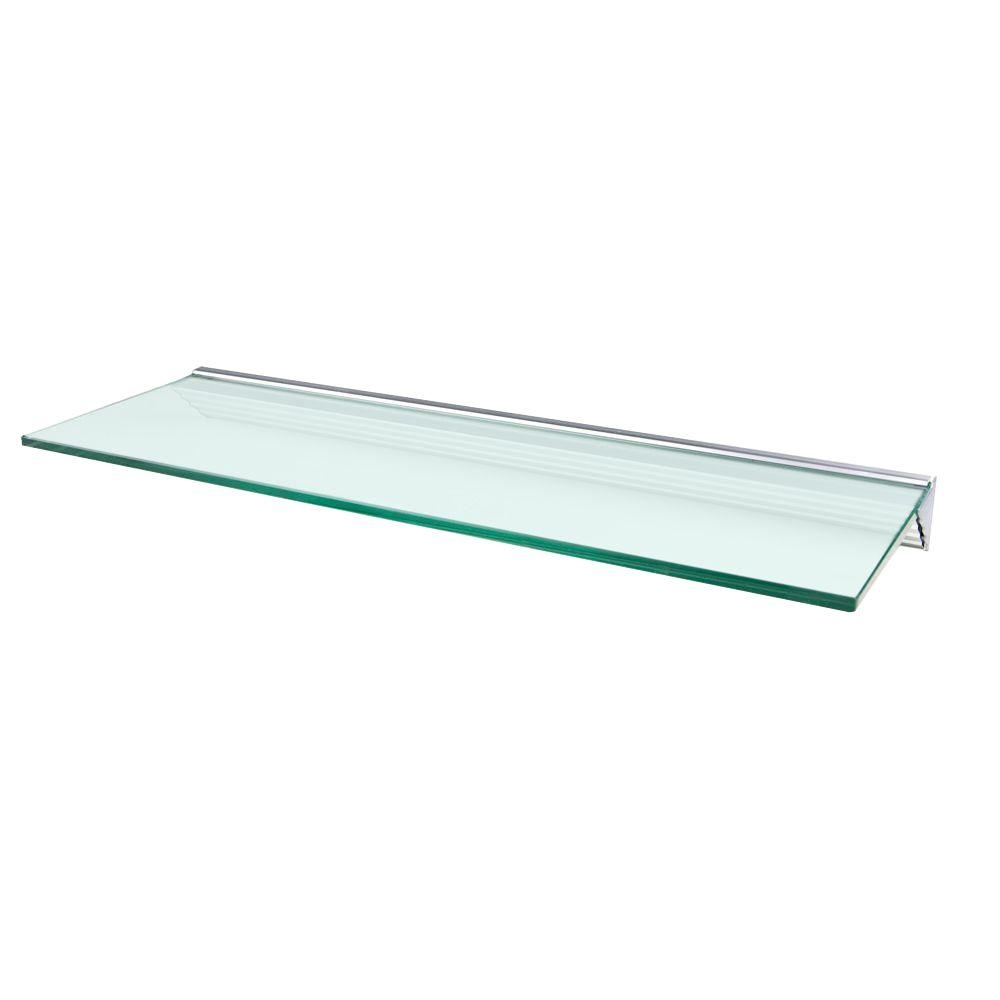 Glass Shelving Bronze Glass Shelf Bracket Supports Design Within Suspended Glass Shelf (Image 5 of 15)