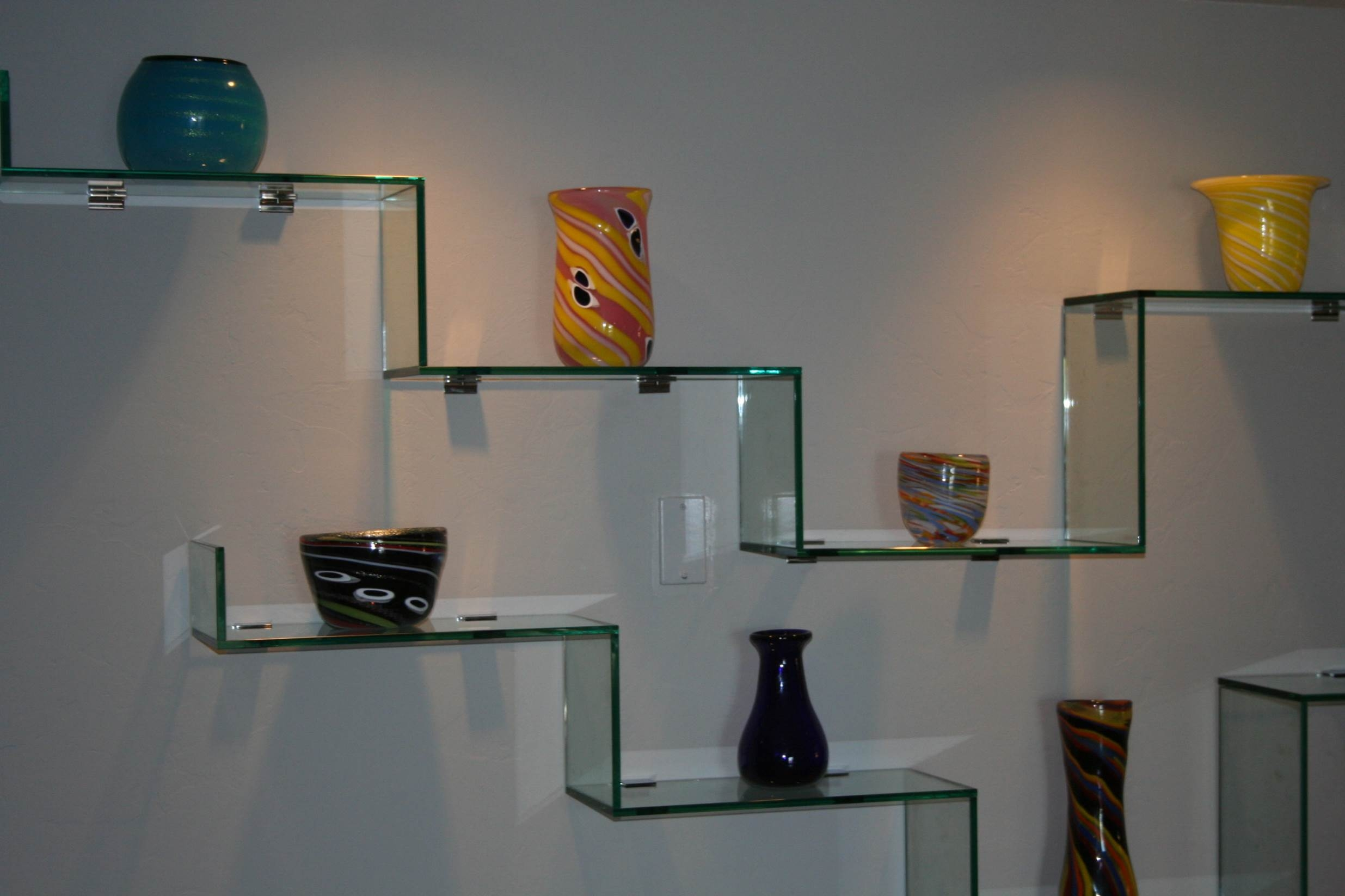 Glass Wall Display Shelf Nucleus Home Intended For Wall Mounted Glass Display Shelves (View 14 of 15)