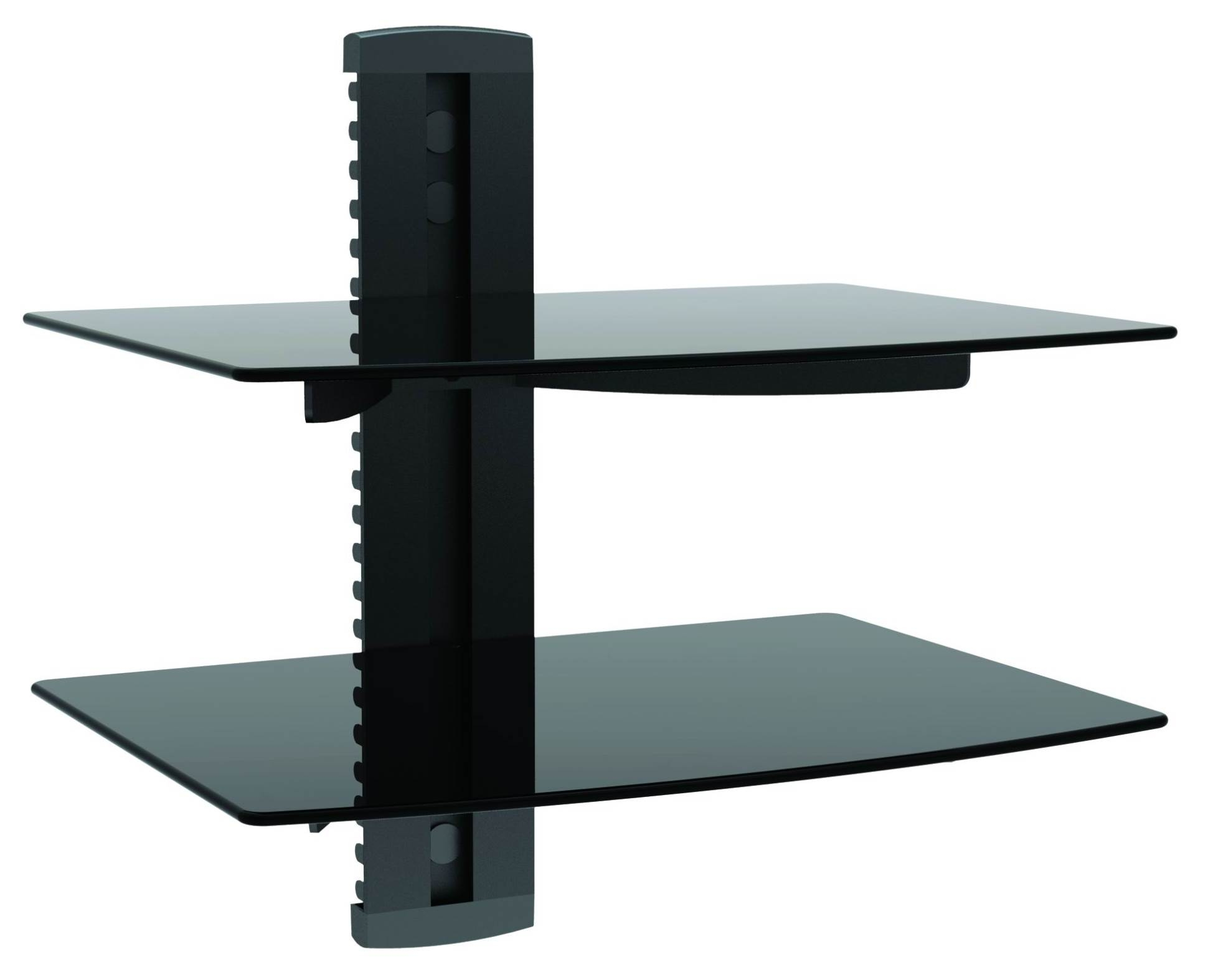 Glass Wall Mount Tv Shelf Naindien Pertaining To Glass Wall Mount Shelves (Image 4 of 15)