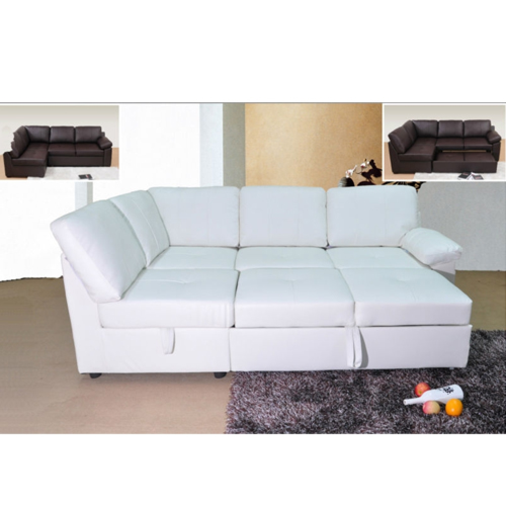 Good Quality Corner Sofa Bed Hereo Sofa In Leather Corner Sofa Bed (Image 5 of 15)