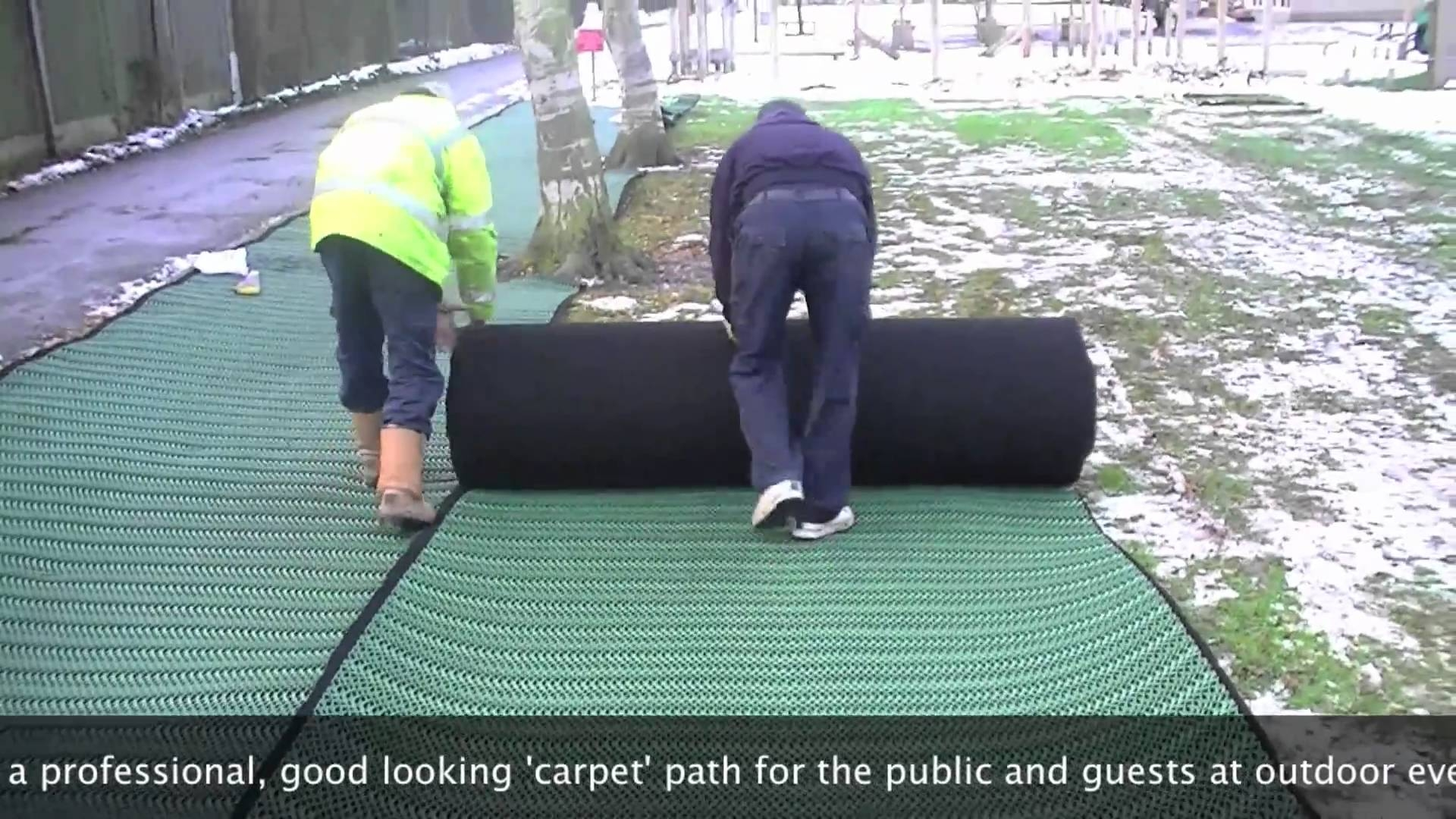 Grass Carpet Sale And Hire Installation Example Youtube Inside Outside Carpets (Image 4 of 15)