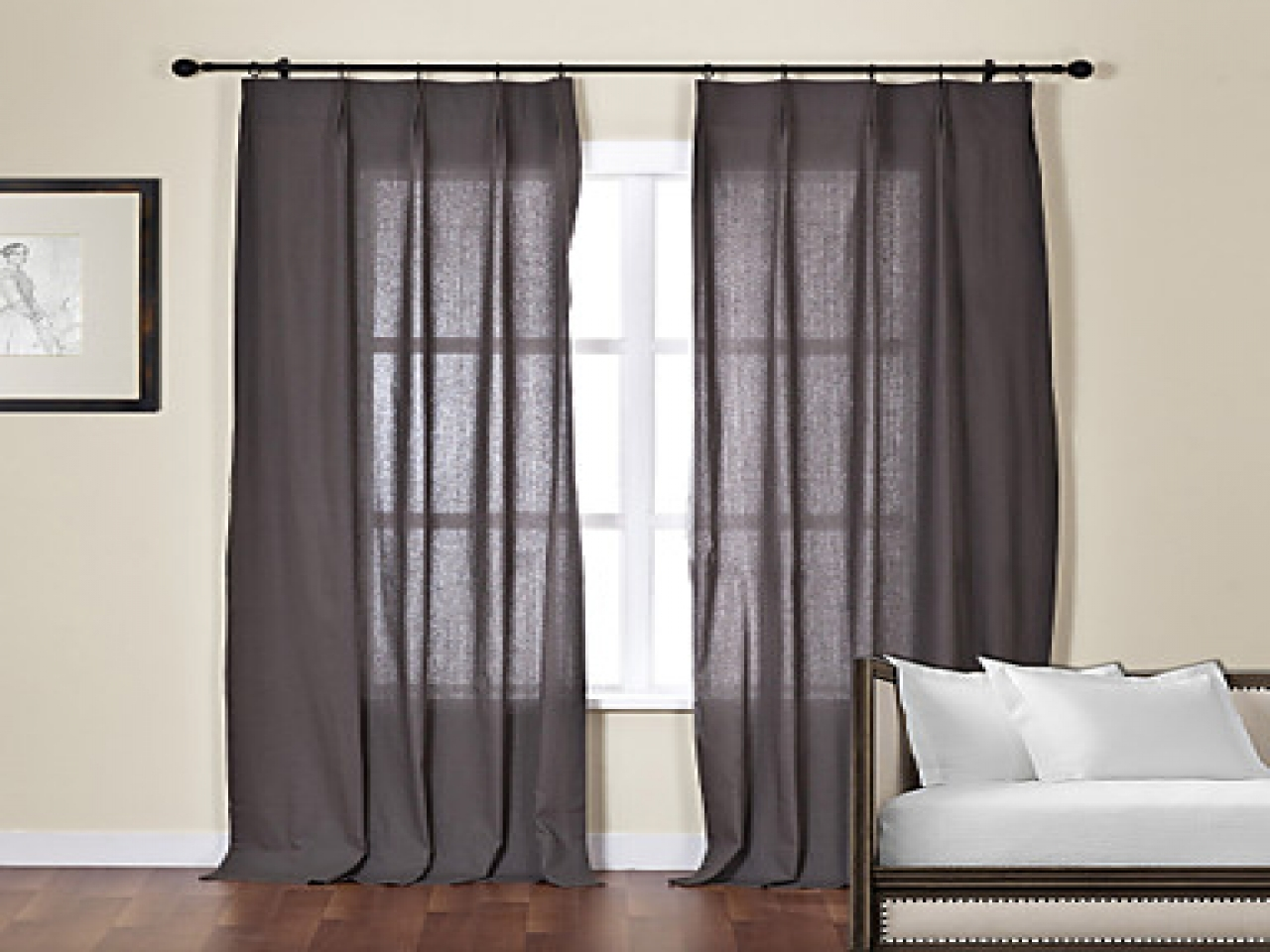 Featured Image of Dark Grey Sheer Curtains