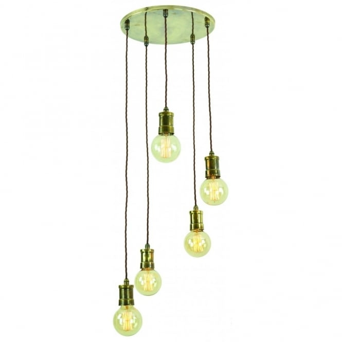 Great Best Bare Bulb Cluster Pendants Inside Vintage Style Lights With Filament Bare Bulbs Edison Range Of (Image 8 of 25)