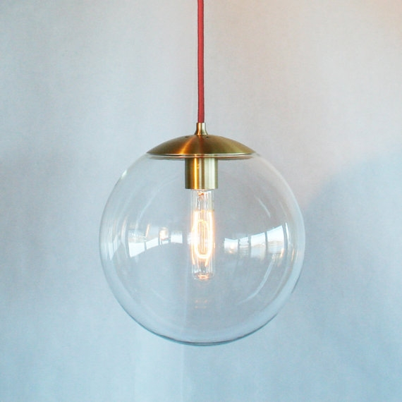 Great Best Globes For Pendant Lights With Modern Mid Century Globe Pendant Light Clear 10 Globe The (Image 12 of 25)
