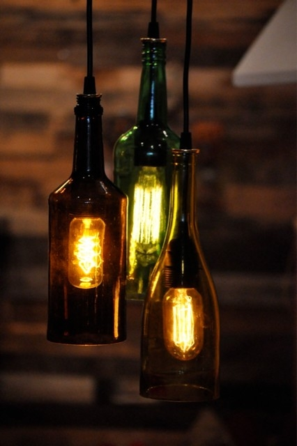 Great Brand New Wine Bottle Pendant Lights Pertaining To 26 Wine Bottle Lamps Repurposed Alcohol Bottle Lamps Wine (View 13 of 25)