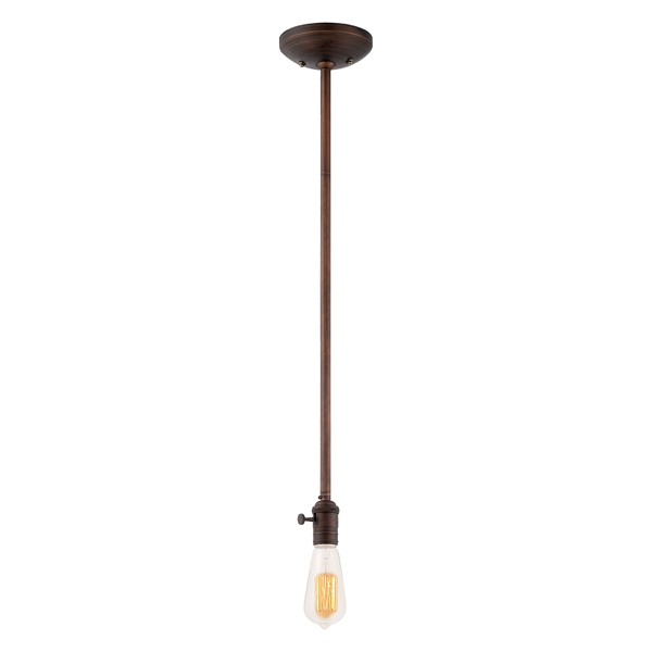 Great Common Bare Bulb Filament Pendants Pertaining To Bare Bulb Stem Mount Pendant Rod Pendant Light From (View 11 of 25)