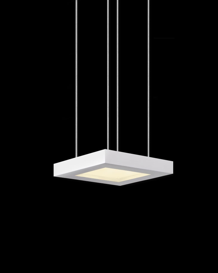 Great Common Led Pendant Lights Pertaining To Chromaglo Bright White Square Led Pendant Light Sonneman (Image 13 of 25)