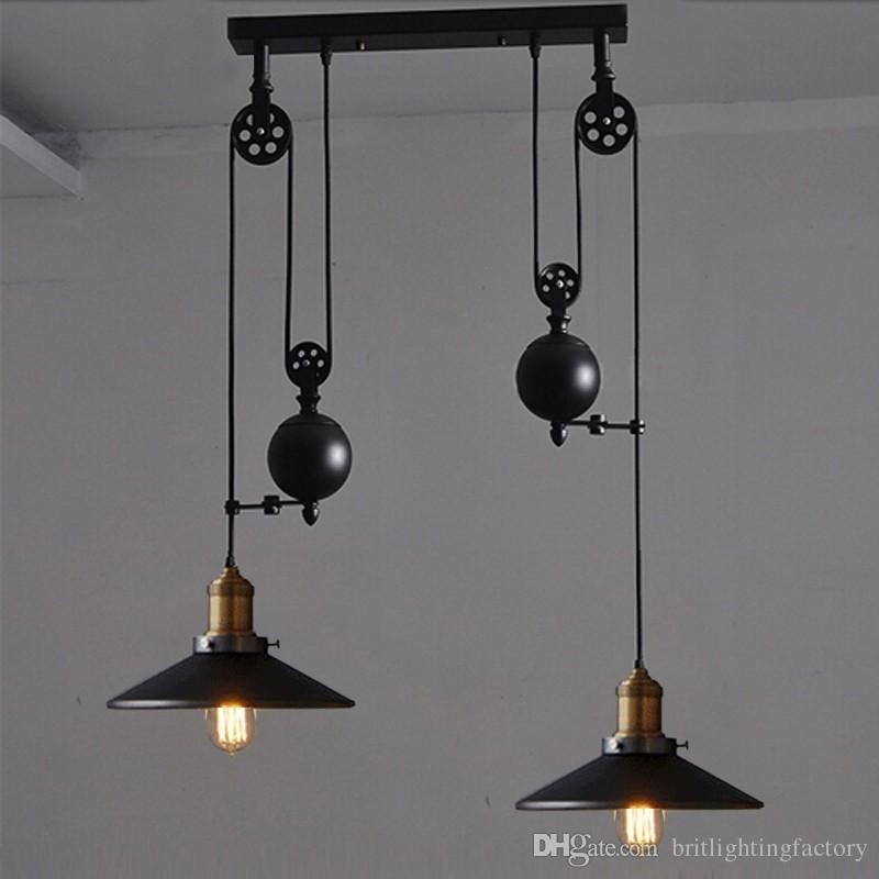 Great Common Pulley Pendant Lights Throughout Kitchen Rise Fall Lights Kitchen Pulley Lights Retro Style Pendant (Image 9 of 25)