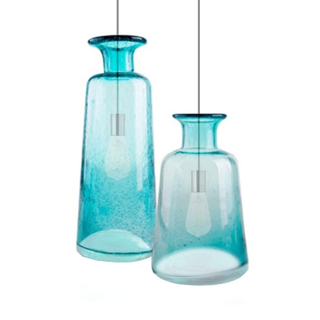 Great Common Turquoise Blue Glass Pendant Lights With Country Blown Glass Pendant Lighting 14066 Browse Project (Image 14 of 25)