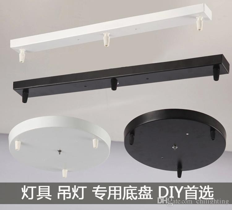 Great Deluxe Base Plate Pendant Lights Inside Ceiling Lamp Pendant Lamp Plate Rectangle Round Bottom Board Edge (Image 12 of 25)