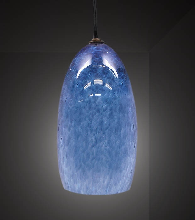 Great Deluxe Pale Blue Pendant Lights Within Blown Glass Pendant Lights This Elegant Pendant Blown Glass (View 21 of 25)