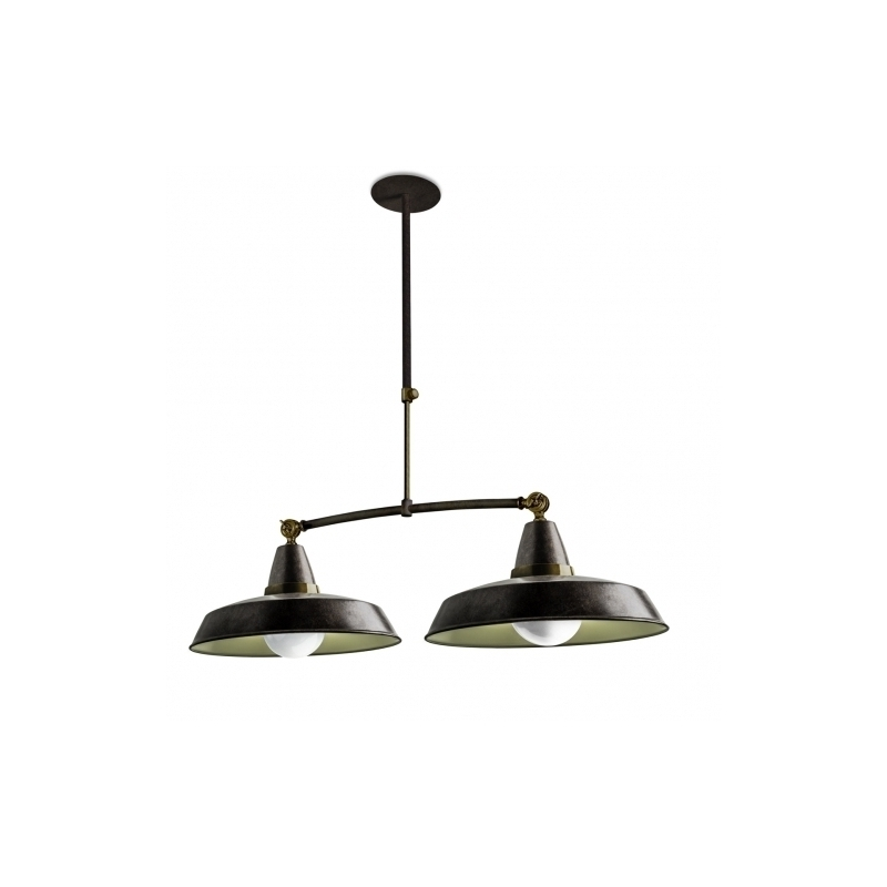 Great Elite Double Pendant Lights With C4 Vintage Pendant Lamp 2l Old Grey (Image 9 of 25)