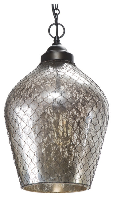 Great Elite Mercury Glass Pendant Lights For Amazing Mercury Glass Pendant Light Ribbed Dome Mercury Glass (Image 11 of 25)