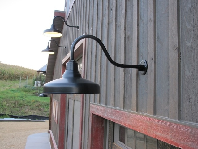 Great Famous Barn Lights With Regard To Classic Gooseneck Barn Lights Lend Authenticity To New Build (Image 13 of 25)