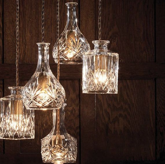 Great Famous Glass Jug Light Fixtures With Regard To 233 Best Very Cool Diy Light Fixtures Images On Pinterest (View 25 of 25)