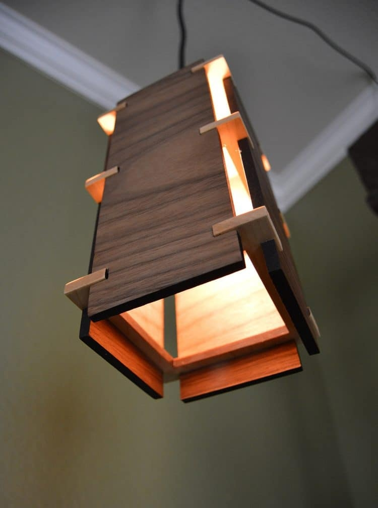Great Famous Wooden Pendant Lights Inside Square Wooden Pendant Light Id Lights (Image 13 of 25)