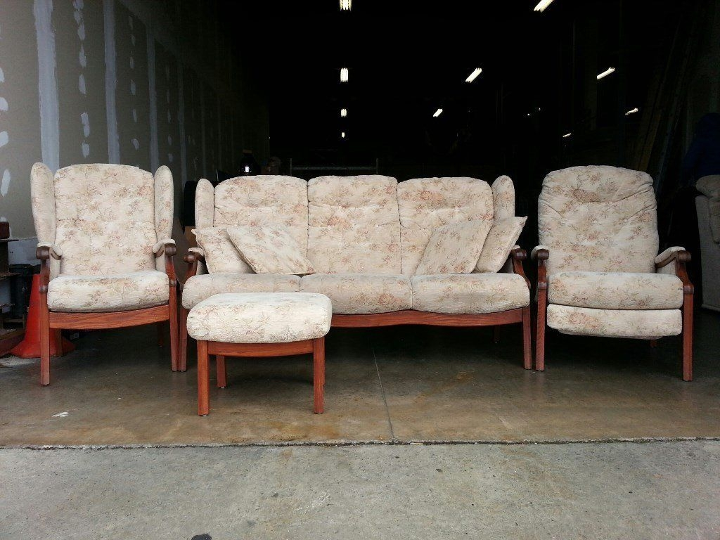 Great Fashionable Cintique Fabric Chairs Within Fabric Cintique Winchester Set 3 Seater Sofa With Pillows Chair (View 6 of 15)