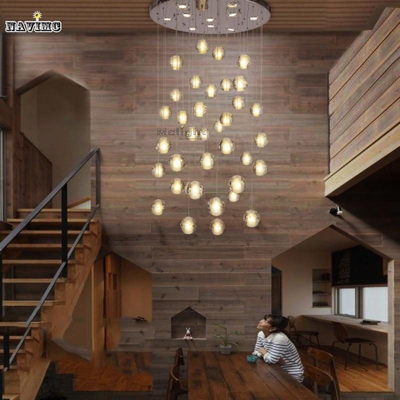 Great Fashionable Stairwell Pendant Lights Inside Modern Led Crystal Pendant Lights Fixtures Magic Crystal Ball (Image 12 of 25)