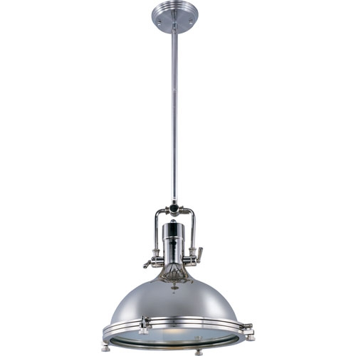 Great Fashionable Union Lighting Pendants Intended For Polished Nickel Pendant Lights Tequestadrum (Image 10 of 25)