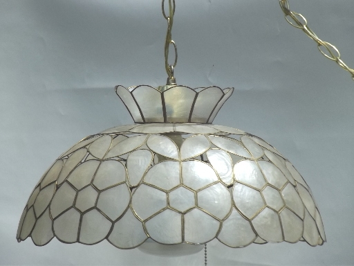 Great Favorite Shell Light Shades Pendants In Retro Lighting Pendant Lanterns And Swag Lamps (View 4 of 25)