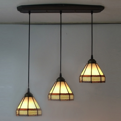 Great High Quality Stained Glass Pendant Light Patterns In Fashion Style Geometricmission Pendant Lighting Multi Light (View 2 of 25)