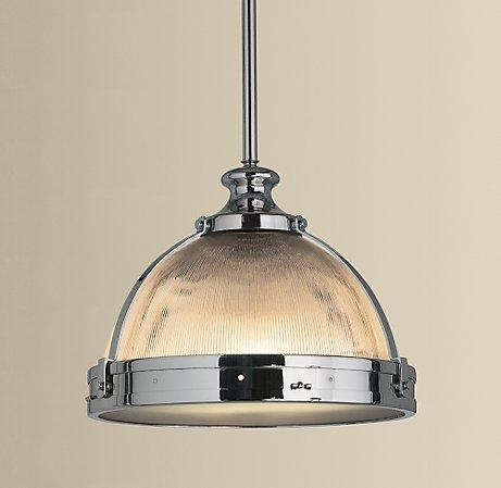 Great New Clemson Pendant Lights Throughout Ribbed Glass Dome Pendant (Image 6 of 25)