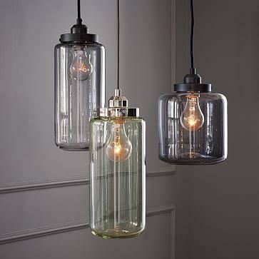 Great New Glass Jug Pendants Regarding 105 Best Sea Glass Lighting Images On Pinterest (Image 11 of 25)