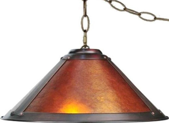 Great Popular Arts And Crafts Pendant Lighting With Regard To Amber Mica Swag Lamp Pendant Light 17 Wide 2 Lights Dirk Van Erp (Image 11 of 25)