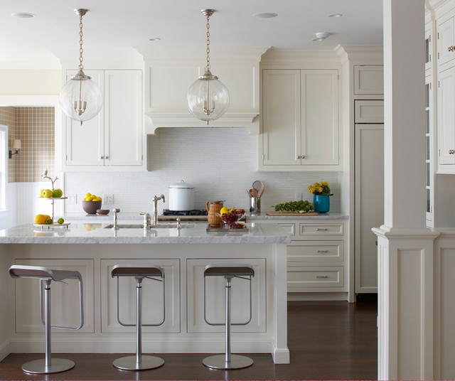 Great Popular Beachy Pendant Lights Regarding Old Greenwich Beach Cottage Beach Style Kitchen New York (View 22 of 25)