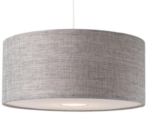 Great Popular Oversized Drum Pendant Lights In Bnwt Modern Grey Textured Large Drum Diffuser Ceiling Light Shade (Image 16 of 25)