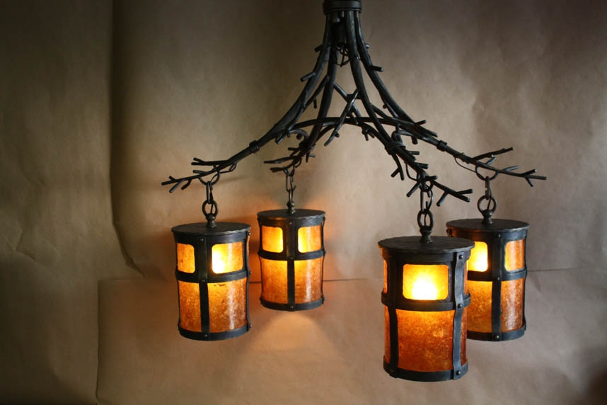 Great Popular Wrought Iron Lights Throughout Custom Wrought Iron Chandeliers Chicken Coop Forge Blacksmiths (Image 11 of 25)