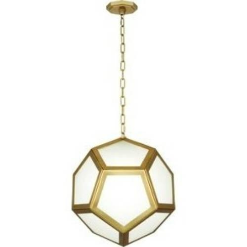 Great Preferred Honeycomb Pendant Lights Inside Abbey Pythagoras Matte Brass Pendant (Image 12 of 25)