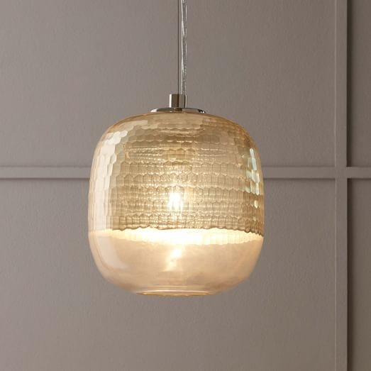 Great Preferred Honeycomb Pendant Lights Within Metallic Honeycomb Glass Pendant Round West Elm (Image 13 of 25)