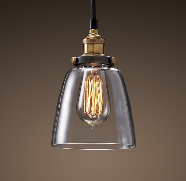 Great Preferred Rustic Clear Glass Pendant Lights Within The Clear Glass Cloche Pendant 99 From Restoration Hardware (Image 13 of 25)