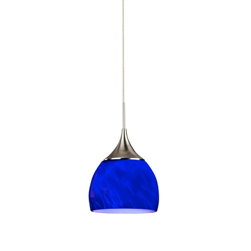 Great Premium Cobalt Blue Mini Pendant Lights Inside Made In Usa Mini Pendant Lighting Bellacor (Image 11 of 25)