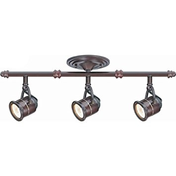 Great Premium Corded Track Lighting Within Hampton Bay 3 Light Antique Bronze Ceiling Bar Track Lighting Kit (Image 10 of 25)