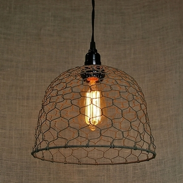 Great Series Of Chicken Wire Pendant Lights With Chicken Wire Dome Pendant Light (Image 13 of 25)