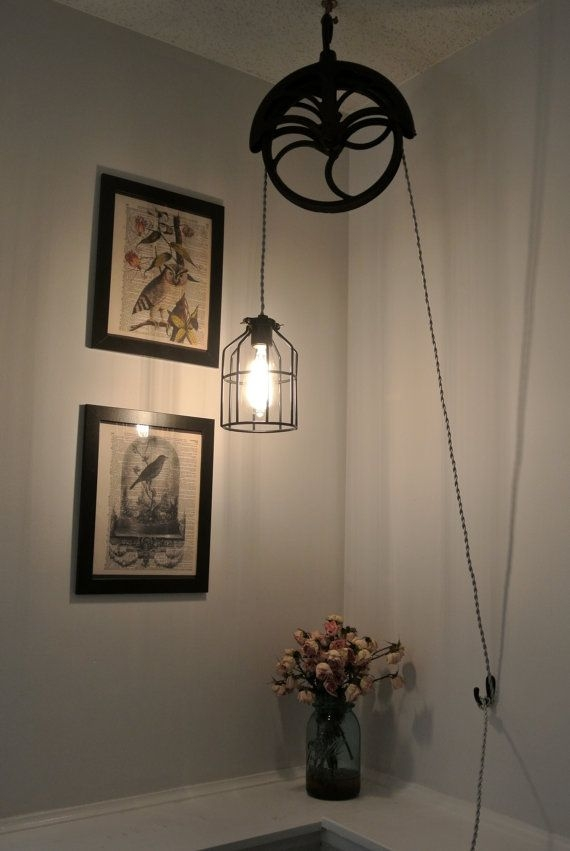 Great Trendy Double Pulley Pendant Lights Within 49 Best Pulley Images On Pinterest (Image 8 of 25)