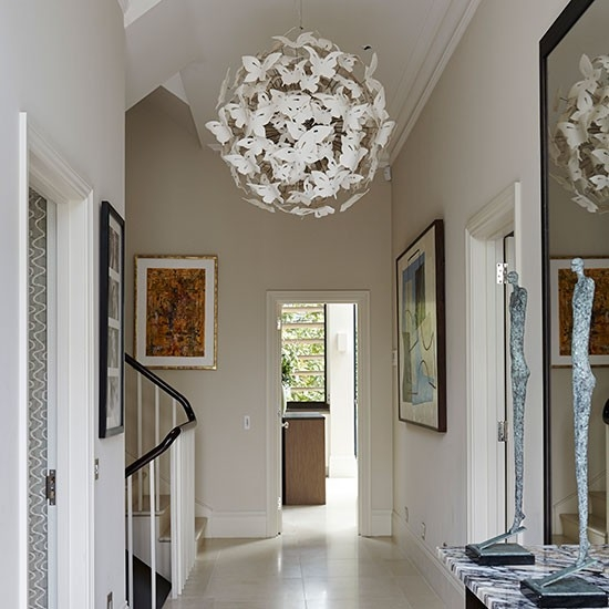 Great Trendy Entrance Pendant Lights For Take A Tour Around This Stylish London Home Entrance Halls (Image 13 of 25)