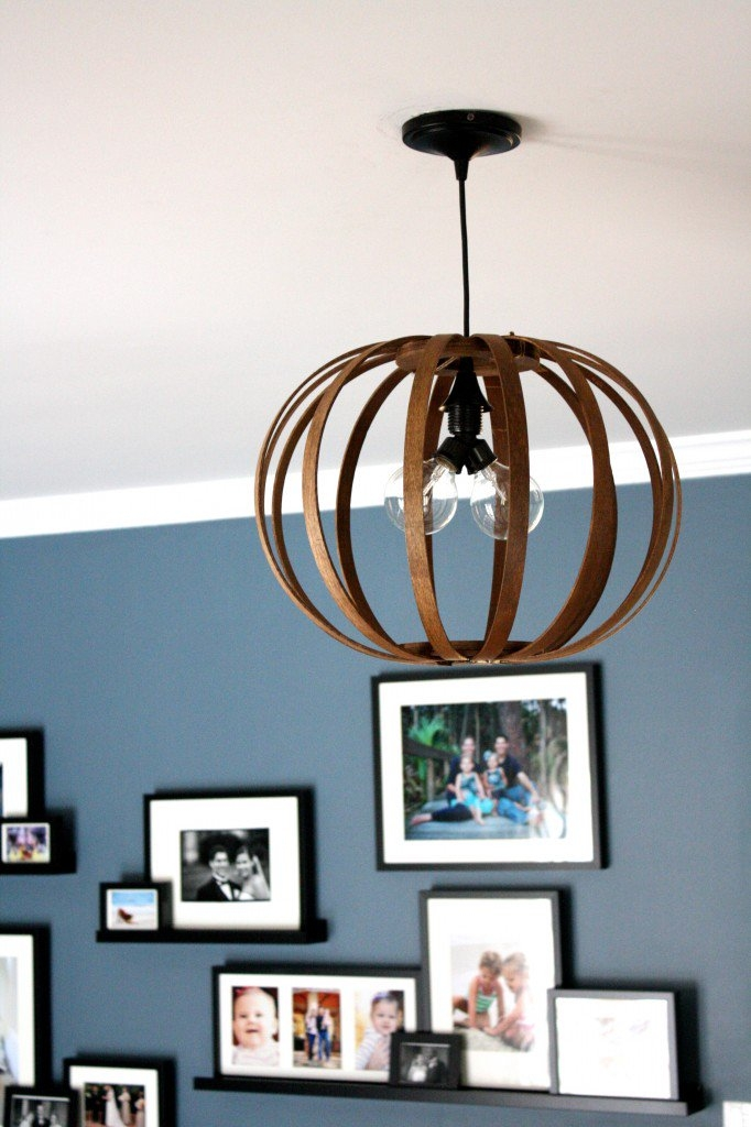 Great Variety Of Bent Wood Pendant Lights Within West Elm Knock Off Diy Bentwood Pendant Tutorial Designer (Image 15 of 25)