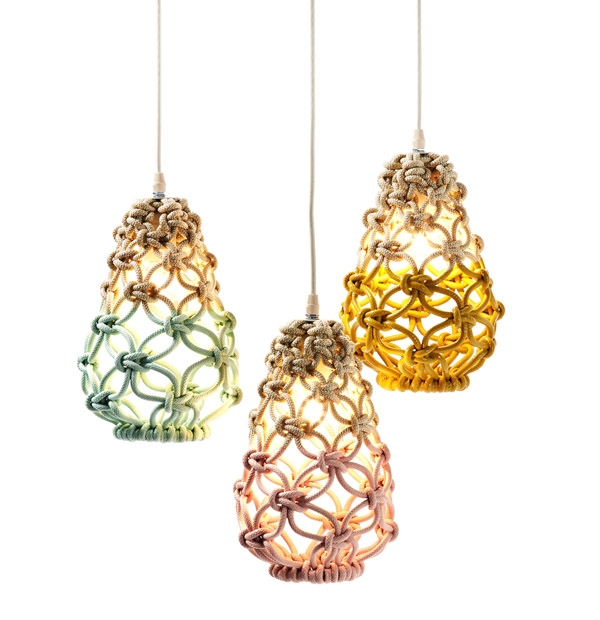 Great Variety Of Macrame Pendant Lights With Macrame Pendant Lights Three Collections Sarah Parkes (Image 13 of 25)