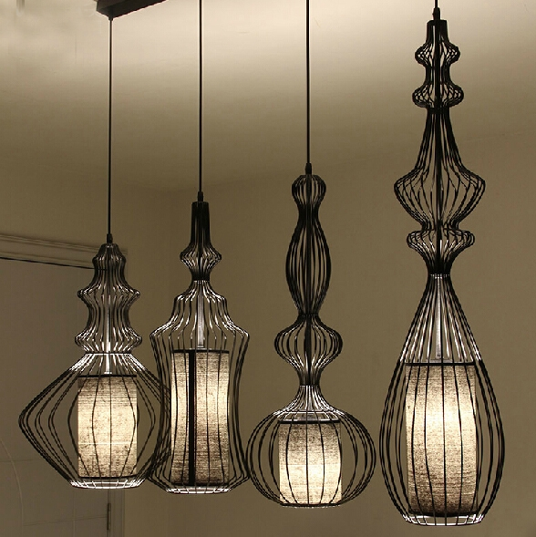 Great Wellknown Birdcage Pendant Lights Inside Aliexpress Buy Showcase Hotel Bar Retro Aristocrat Magnates (Image 15 of 25)